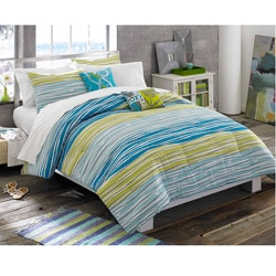Roxy malibu 9 piece full size bed in a bag with sheet set 13204235