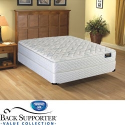 Spring Air Cascade Euro Top Value Back Supporter Queen-size Mattress Set