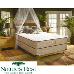 Nature's Rest by Spring Air Tahoe Firm Zoned Latex Foam Twin-size Mattress Set