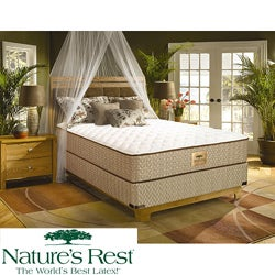 Nature's Rest by Spring Air Tahoe Firm Zoned Latex Foam California King-size Mattress Set