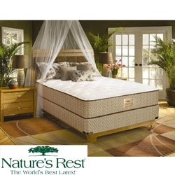 Nature's Rest by Spring Air Solitude Plush Zoned Latex Foam California King-size Mattress Set