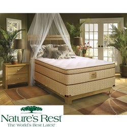Nature's Rest by Spring Air Stratton Euro Top Zoned Latex Foam Twin-size Mattress Set