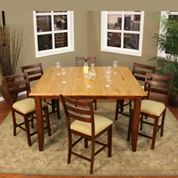Alexis 7-piece Butterfly Leaf Counter-height Dining Set