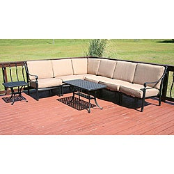 Savannah Classics Madrid Outdoor Black Aluminum Patio Furniture Set