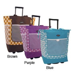 Olympia Sports Plus 20-inch Rolling Shopper Tote Bag