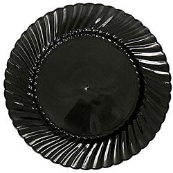 WNA Comet EarthSense 7.5-in Black Plastic Plates (Case of 180)