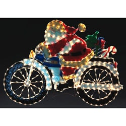 Motorcycle Santa Holiday Lawn Decoration