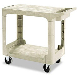 Rubbermaid Commercial Flat Shelf 2-Shelf Utility Cart
