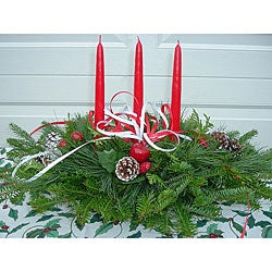 Fresh Balsam 3-candle Holiday Centerpiece