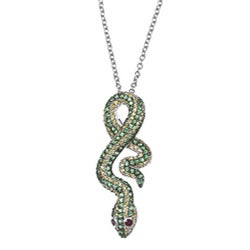 Meredith Leigh Sterling Silver Gemstone Snake Necklace