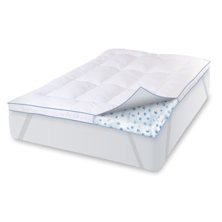 SwissLux Deluxe 3-inch Memory Foam Cluster and Fiber Mattress Topper