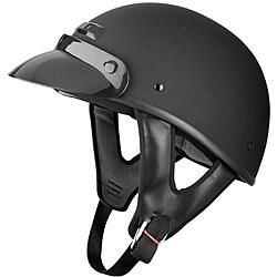 Raider Flat Black Shorty Helmet