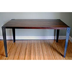 Sheesham Wood Metal Legs Dining Table (India)