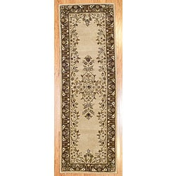 Hand-tufted Indo Beige/ Brown Wool Rug (2&#39;5 x 7&#39;)