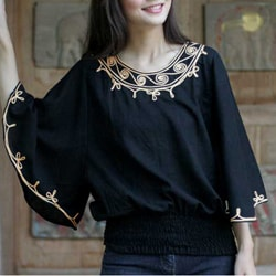 Women&#39;s Cotton &#39;Cool Night&#39; Blouse (Thailand)