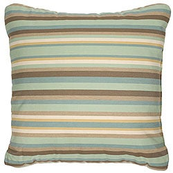 Tan/ Sage/ Aqua 18-inch Knife-edged Outdoor Pillows with Sunbrella Fabric (Set of 2)