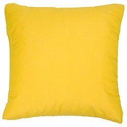 Sunflower Yellow 20-inch Knife-edged Outdoor Pillows with Sunbrella Fabric (Set of 2)