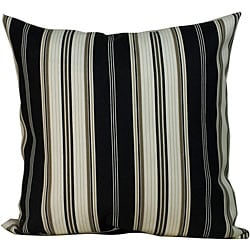 'Down the Lane' Outdoor Black Decorative Pillow