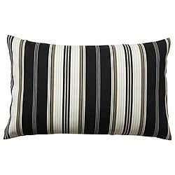 12 x 20-inch 'Down the Lane' Black Striped Outdoor Decorative Pillow