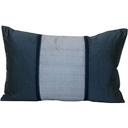 Jiti Silk Blue and Silver Decorative Pillow - Overstock Shopping - The Best Prices on Throw Pillows