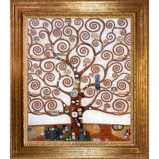 Gustav Klimt 'Tree of Life' Hand-painted Framed Art Print
