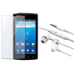 White 3.5 mm Headset and Screen Protector for Samsung Captivate i897