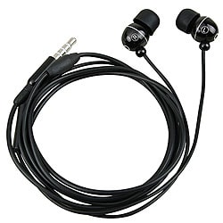 Black Universal 3.5 mm Stereo Headset with On Off and Mic