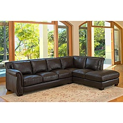 Lancaster Italian Leather Sectional Sofa