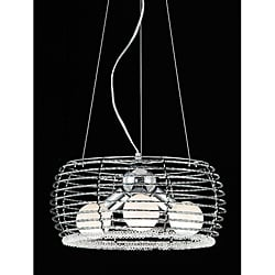 Metalworks 3-light Chrome Chandelier