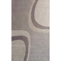 nuLOOM Handmade Pino Collection Beige Modern Rug (7'6 x 9'6)