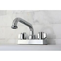 Chrome Double-handle 4-inch Centerset Bathroom Faucet