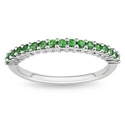 Miadora 10k White Gold Tsavorite Fashion Ring