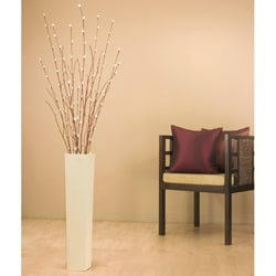 Ivory 25-inch Floor Vase with Florals/ Branches - Overstock ...
