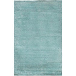 Hand-loomed Haiden Blue Wool/ Viscose Rug (3'6 x 5'6)