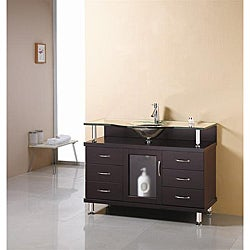 Virtu USA Vincente 48-inch Single Sink Bathroom Vanity Set