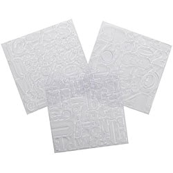 Creative Metal Letters Numbers & Symbols Design Squares