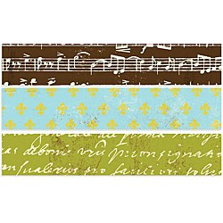 Avignon 0.75-inch 5 Yard Rolls Printed Paper Tape (Pack of3)