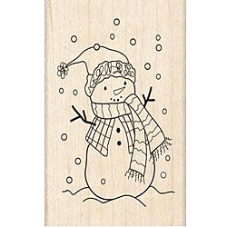 Inkadinkado Doodle Winter Snowman Rubber Stamp