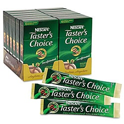 Nescafe Taster's Choice Decaf Coffee Sticks (Case of 72)