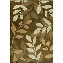 Loomed Replica Green Floral Rug (7'10 x 10'10)