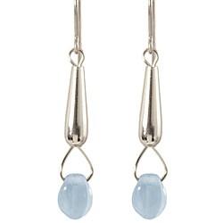 Sterling Silver 'Rain Drop' Dangle Earrings