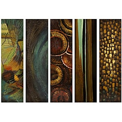 Set of 5 Argento Deep Rain Forest Wall Decor