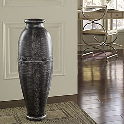 Antique Silver Floor Urn Vase (Indonesia)