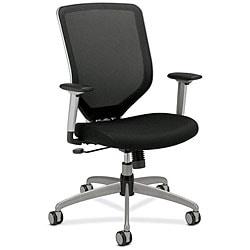 HON Boda Series Black High-Back Padded Mesh Work Chair