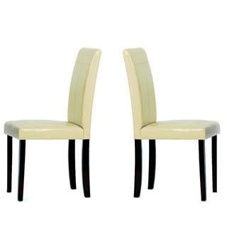 Warehouse of Tiffany Cream Rubberwood Dining Room Chairs (Set of Two)