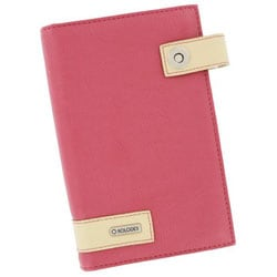 Pink Faux Leather Pocket-sized Rolodex Business Card Book for 72 Cards