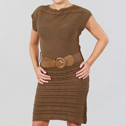 JFW Junior's Cap Sleeve Sweater Dress