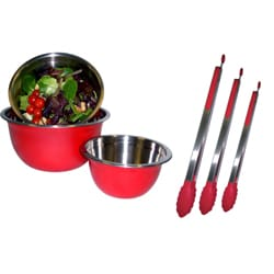 Mixing Bowl and Tong Set