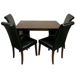 Warehouse Of Tiffany 5 Piece Black Dining Furniture Set