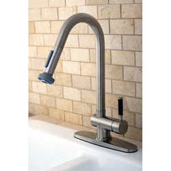 Kaiser Single-handle Pull-out Satin Nickel Kitchen Faucet